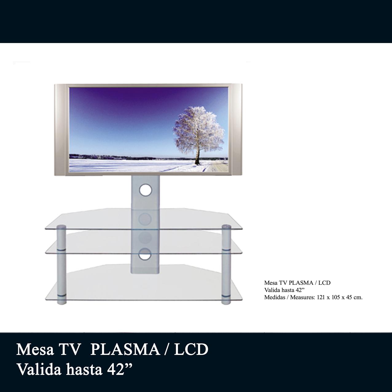 Mesas para tv plasma mesa mesa de tv de cristal mesa for Mesa tv 49 pulgadas